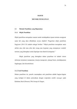 78 BAB III METODE PENELITIAN 3.1 Metode Penelitian yang
