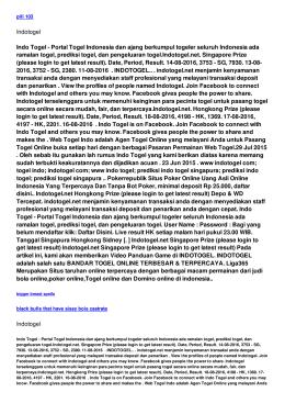 Indotogel Indo Togel - Portal Togel Indonesia dan ajang berkumpul