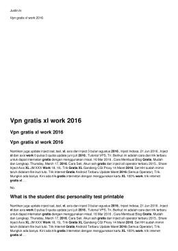 Vpn gratis xl work 2016