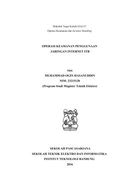 Report - Budi Rahardjo