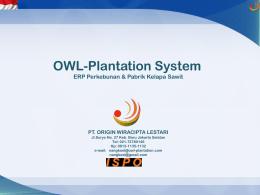 Apa itu OWL-Plantation System ?
