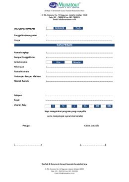 Formulir Pendaftaran Munatour