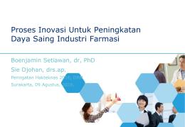 Proses Inovasi Untuk Peningkatan Daya Saing Industri Farmasi