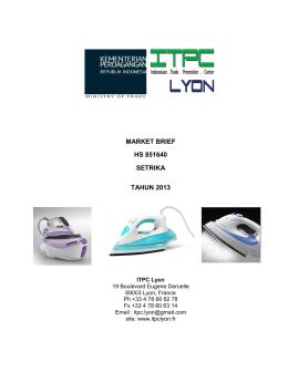 market brief hs 851640 setrika tahun 2013