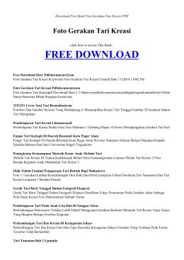 FOTO GERAKAN TARI KREASI | Free PDF Book
