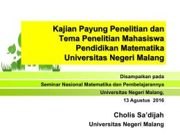 - Universitas Negeri Malang