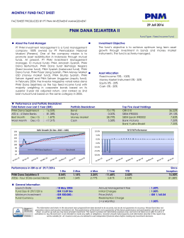 pnm dana sejahtera ii - PNM Investment Management