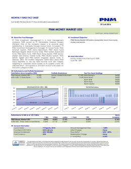 pnm money market usd - PNM Investment Management