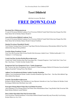 TEORI DIHIBRID | Free Books PDF