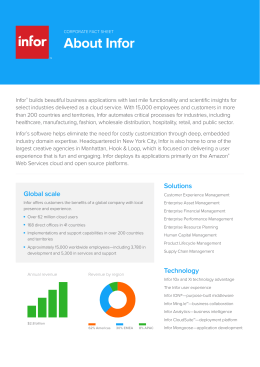 Infor Corporate Fact Sheet