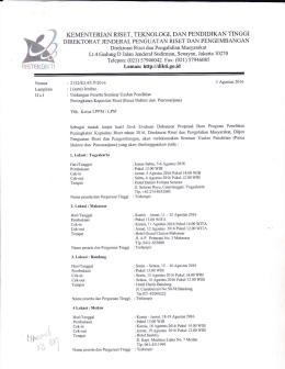 Pengumuman dan Daftar nama Peneliti yang