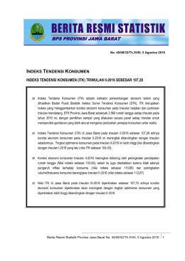 Unduh BRS Ini - Badan Pusat Statistik Provinsi Jawa Barat