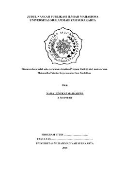 Pedoman Naskah Publikasi - UMS