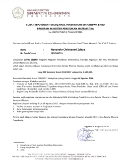 Novanolo Christovori Zebua - Universitas Sanata Dharma