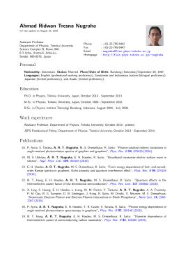 Ahmad Ridwan Tresna Nugraha: Curriculum Vitae