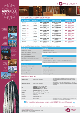 Grand Slipi Tower - Indonesia Virtual Office