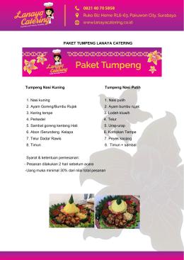 PAKET TUMPENG LANAYA CATERING Tumpeng Nasi Kuning