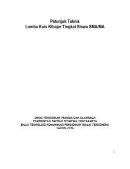Petunjuk Teknis Lomba Kuis Kihajar Tingkat Siswa SMA/MA