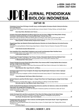 jurnal pendidikan biologi indonesia