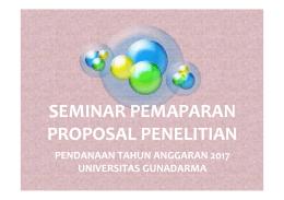 Materi Arahan Pemaparan Proposal