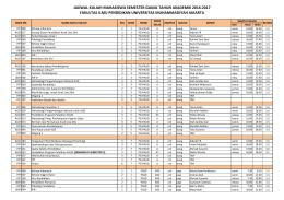 jadwal dan sebaran mata kuliah ganjil 2016-2017 kelas
