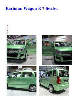 Karimun Wagon R 7 Seater