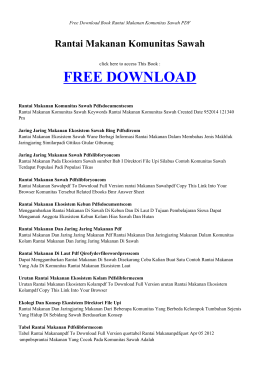 RANTAI MAKANAN KOMUNITAS SAWAH | Free Book PDF