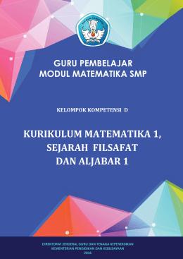 4. KK D. Kurikulum Matematika 1, Sejarah Filsafat dan Aljabar1
