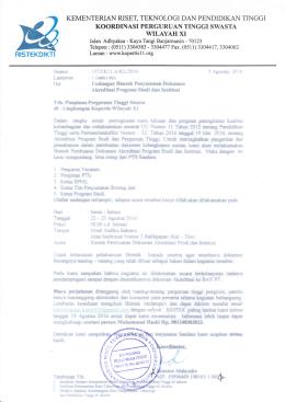 Undangan1573 - Kopertis Wilayah XI
