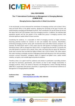 call for papers - ICMEM - Institut Teknologi Bandung