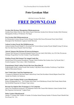 FOTO GERAKAN SILAT | Free Book PDF