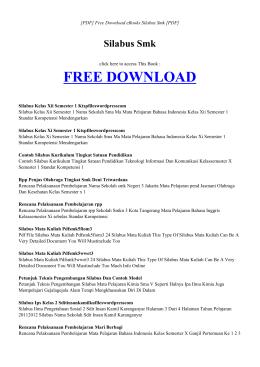SILABUS SMK   Free Book PDF