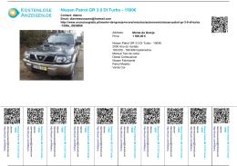 Nissan Patrol GR 3.0 DI Turbo