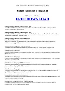 SISTEM PEMINDAH TENAGA SPT | Free Book PDF