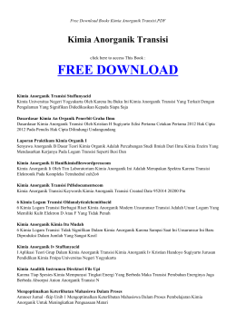 KIMIA ANORGANIK TRANSISI   Free Books PDF