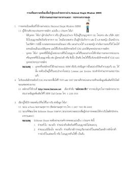 1. NSW(อย.) - สมาคมชิปปิ้งแห่งประเทศไทย
