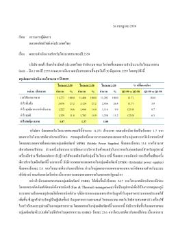ผลการดำเนินงานสำหรับไตรมาสสองของปี 2559