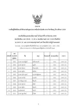 สาขาวิชาชีพครู ปีการศึกษา 2559