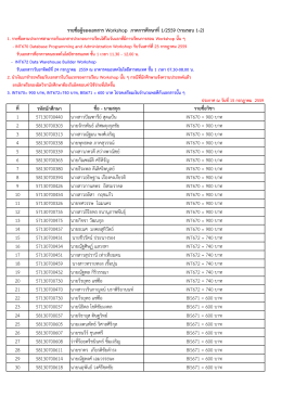ที่ รหัสนักศึกษา ชื่อ - นามสกุล รายชื่อวิชา 1 57130700