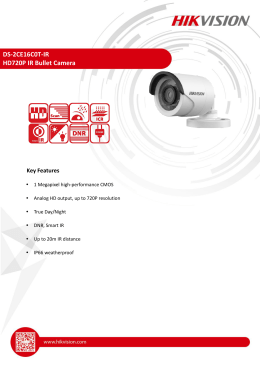 DS-2CE16C0T-IR HD720P IR Bullet Camera