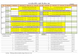 ตางรางเรียน ชั้นปี 4 ภาคต้น ปีการศึกษา 2559