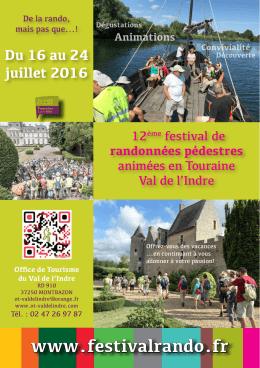 View brochure - Festival de randonnées pédestres à thèmes