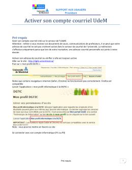Activer son compte courriel UdeM