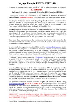 Voyage Plongee L`Estartit 2016 - Amiens-Sub