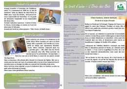Trait d`union août 2016 - Résidence L`Orée des Bois