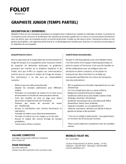 GRAPHISTE JUNIOR (TEMPS PARTIEL)