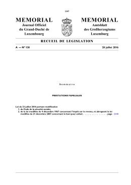A - N° 138 / 28 juillet 2016 - Administration des contributions directes