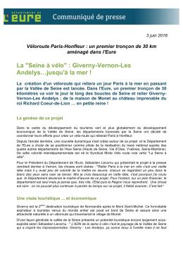 "La ""Seine à vélo"" : Giverny-Vernon"