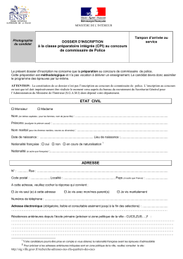 à la classe préparatoire intégrée (CPI) au concours de commissaire