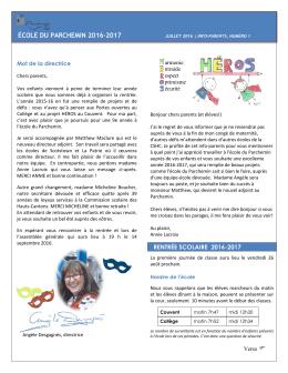 école du parchemin 2016-2017 - Commission scolaire des Hauts